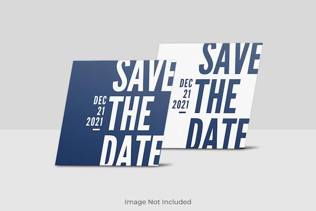 Elegancki kwadratowy projekt makiety zaproszenia