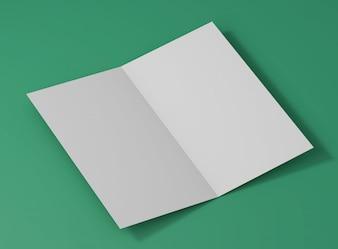 Elegancki makieta studyjny składany karty