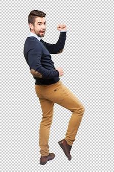 Elegancki mężczyzna do tańca całego ciała
