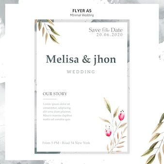 Elegancki plakat zaproszenie na ślub