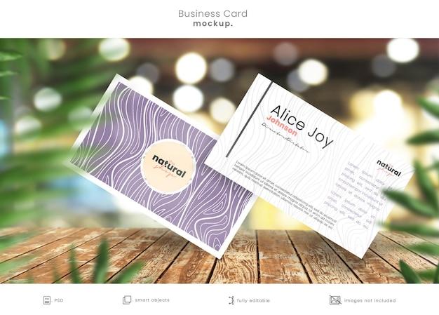 Elegancki projekt makiety wizytówki