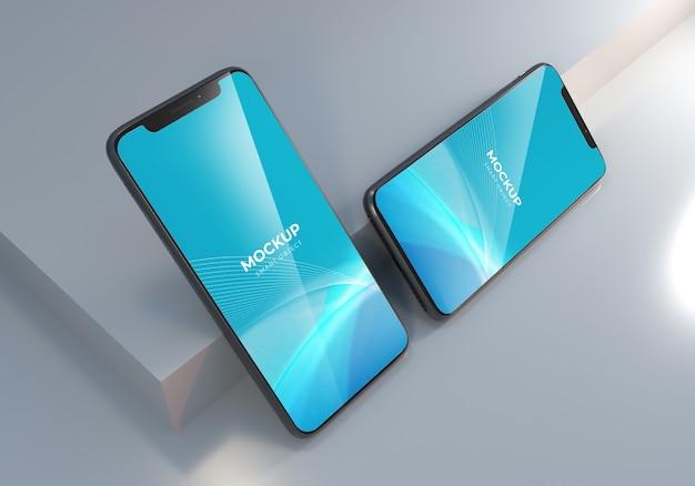 Elegancki realistyczny projekt makiety smartfona