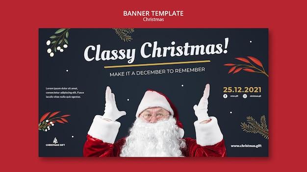 Elegancki szablon transparentu świątecznego