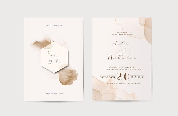 Elegancki szablon zaproszenia ślubne