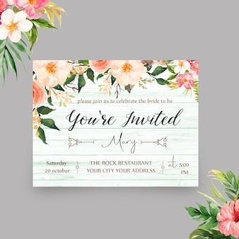 Elegancki zaproszony szablon zaproszenia