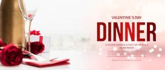 Eleganckie makieta walentynkowy obiad