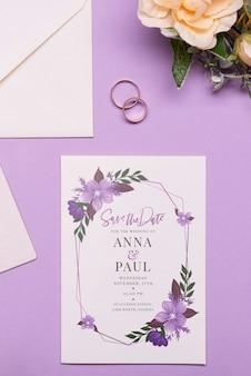 Eleganckie zaproszenie na ślub koncepcji