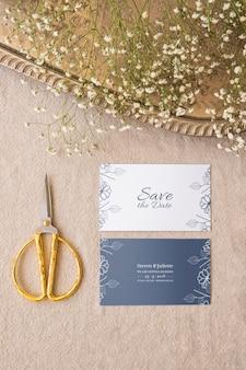 Eleganckie zaproszenie na ślub makieta