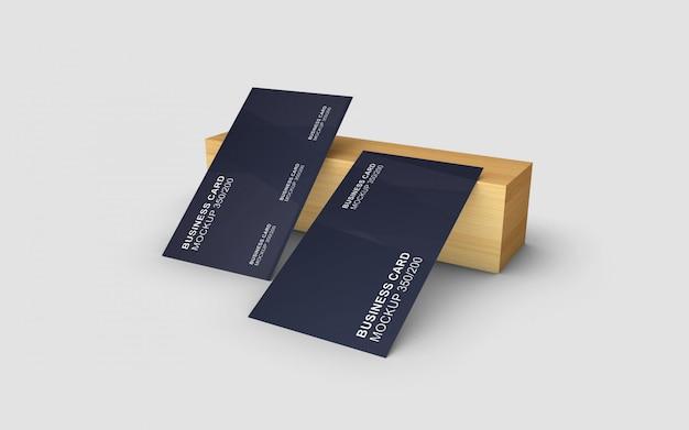 Elegancko zaprojektowana klasyczna i prosta makieta wizytówki
