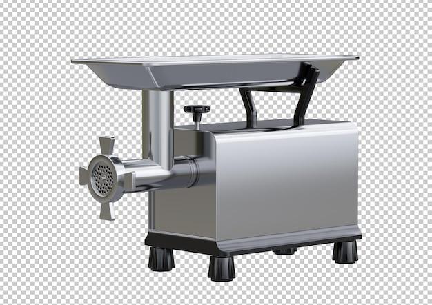 Elektryczna maszynka do mielenia mięsa ze stali nierdzewnej na białym tle