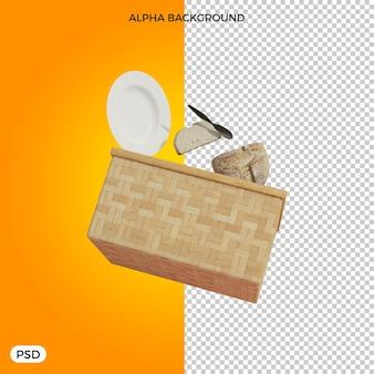 Elementy piknikowe renderowania 3d