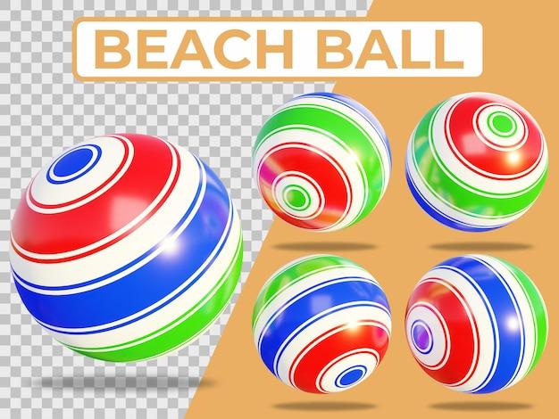 Elementy summer beach ball w renderowaniu 3d