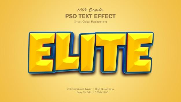 Elitarny efekt tekstowy 3d w stylu filmu