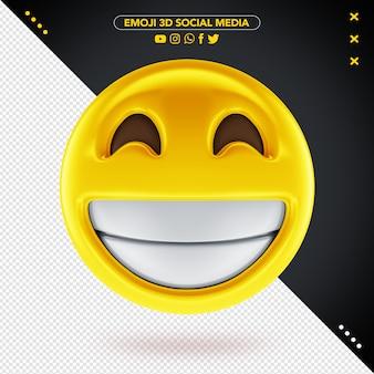 Emoji 3d media społecznościowe