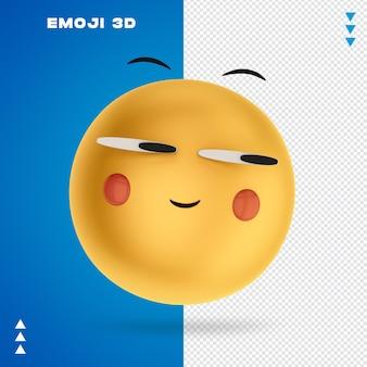 Emoji 3d renderowania 3d na białym tle