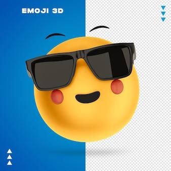 Emoji renderowania 3d na białym tle