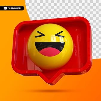 Emotikony 3d szczęśliwej twarzy