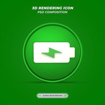 Engery power ikona w renderowaniu 3d