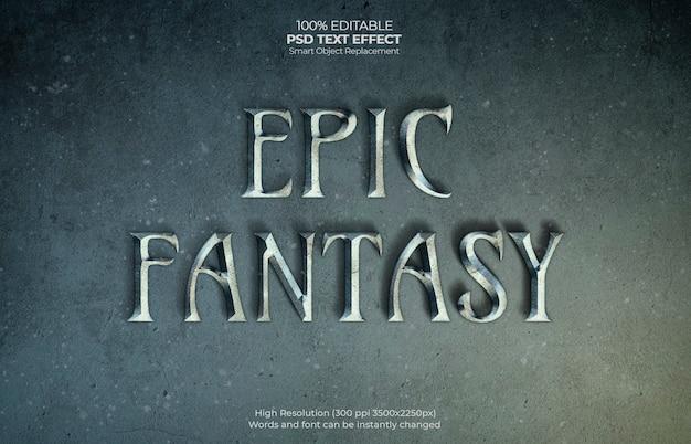 Epicki efekt tekstowy fantasy