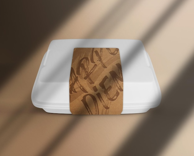 Etui papierowe z makietą naklejek