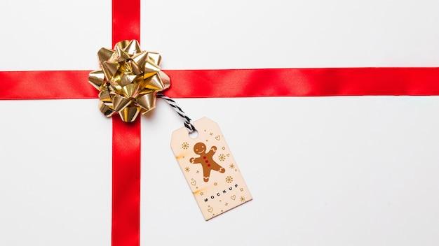 Etykieta makieta z christmas koncepcji