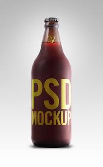 Etykieta makiety czerwonego piwa