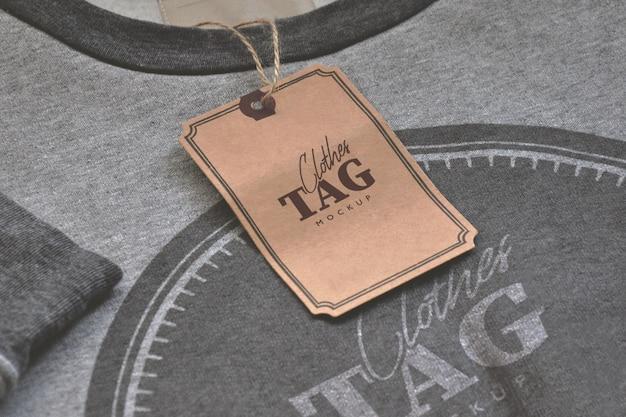 Etykieta na ubrania psd makieta szablon
