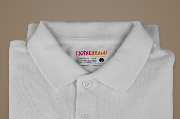 Etykieta składanej koszulki polo