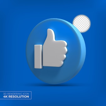 Facebook 3d jak przycisk na białym tle