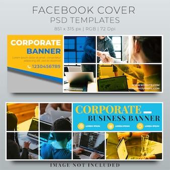 Facebook cover web banner szablon społecznościowy
