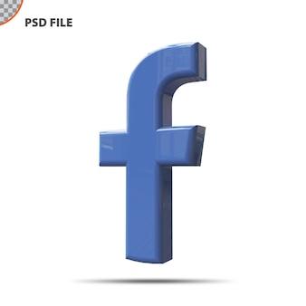 Facebook ikona koncepcja 3d