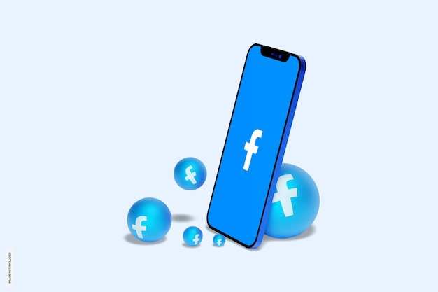 Facebook na makiecie telefonu komórkowego mobile
