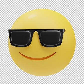 Fajna twarz emoji ilustracja 3d