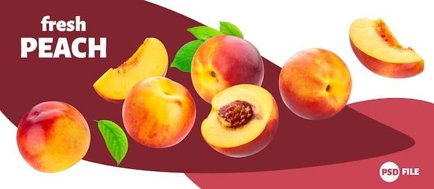 Falling peach banner