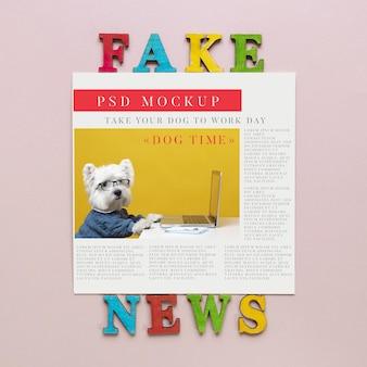 Fałszywe wiadomości makieta gazety