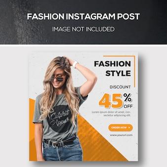Fashion instagram post lub kwadratowy szablon transparent