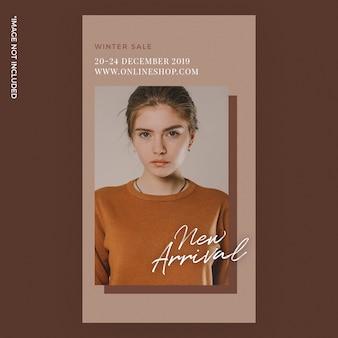 Fashion instagram stories banner brown nowość