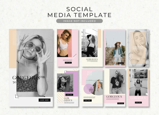 Fashion post instagram story post template