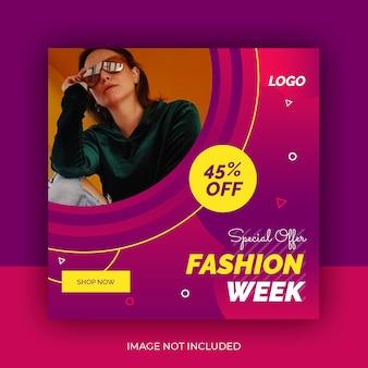 Fashion social media post szablon projektu premium
