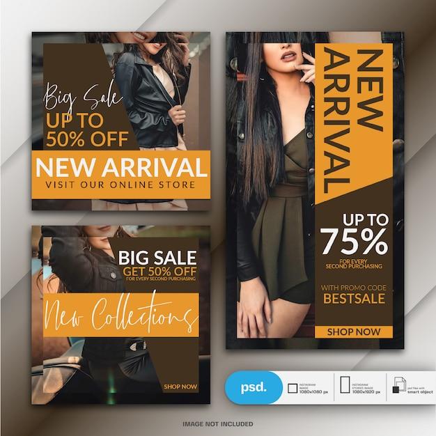 Fashion web banner szablon mediów społecznościowych