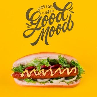 Fast foody koncepcja z copyspace