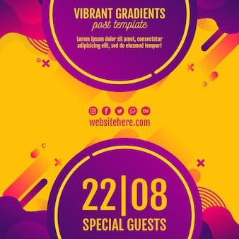 Festiwal muzyki tła żółty szablon