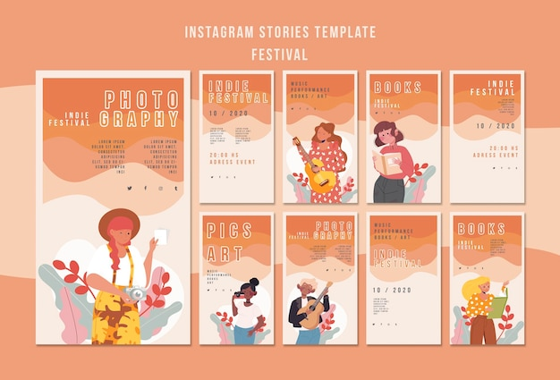 Festiwal szablonów historii na instagramie