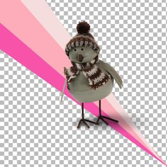 Figurka na białym tle ptak