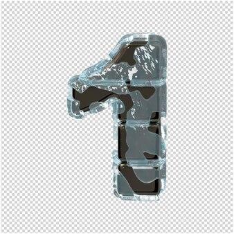 Figurka wykonana z metalu w lodzie. 3d numer 1