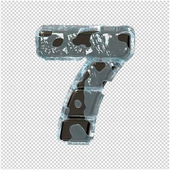 Figurka wykonana z metalu w lodzie. 3d numer 7