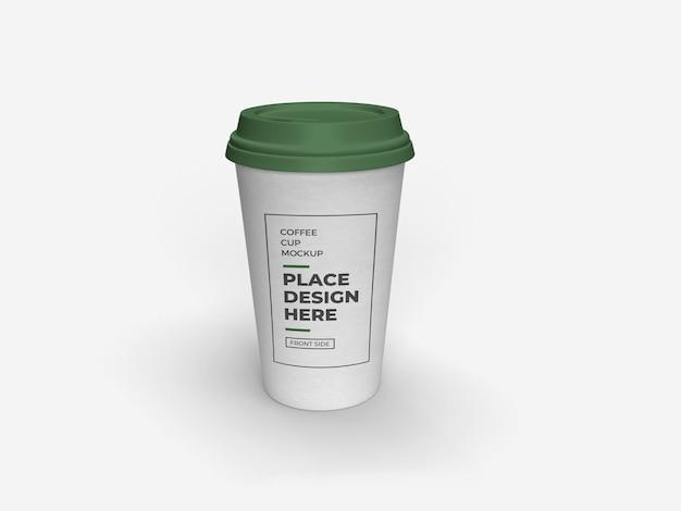 Filiżanka kawy makieta na białym tle