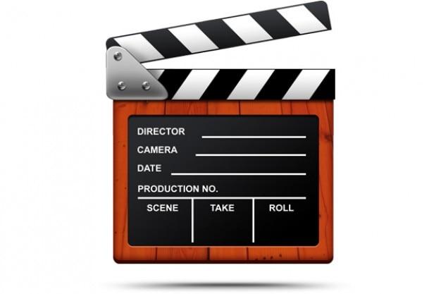 Film klaps psd i ikony