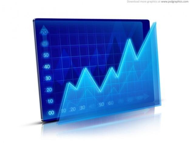 Finansowe wykres ikonę (psd)