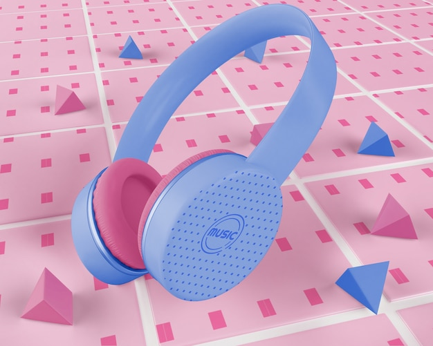 Fioletowe słuchawki bezprzewodowe
